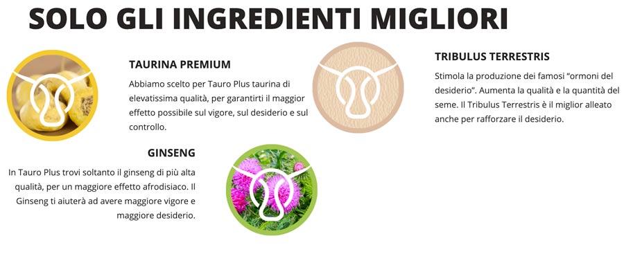 Ingredienti di Tauro Plus