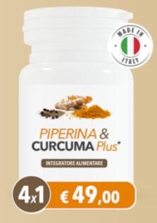 Integratore per dimagrire Piperina E Curcuma Plus