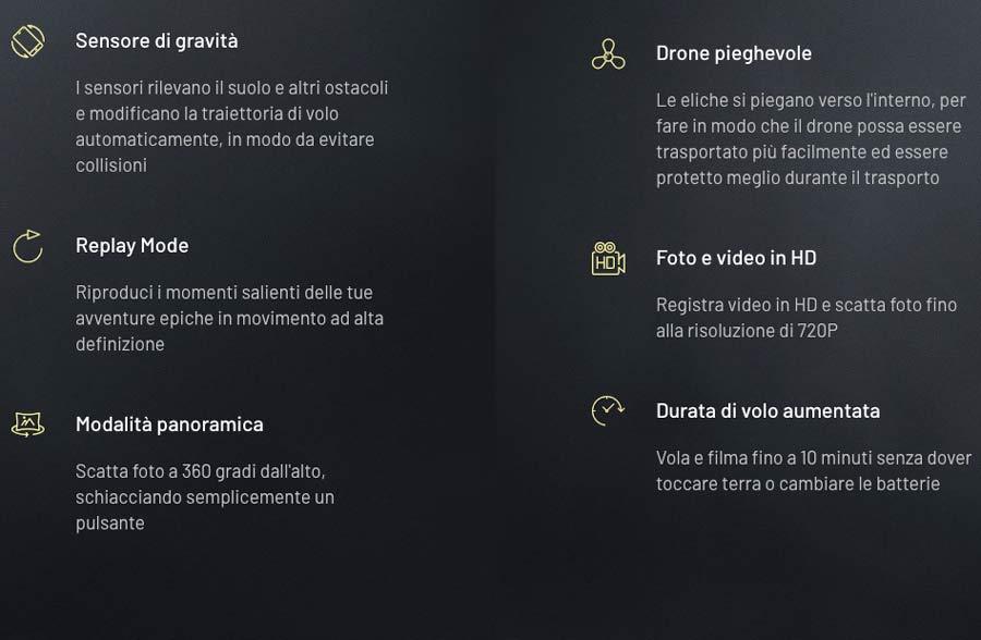 Caratteristiche tecniche di Xtactical Drone
