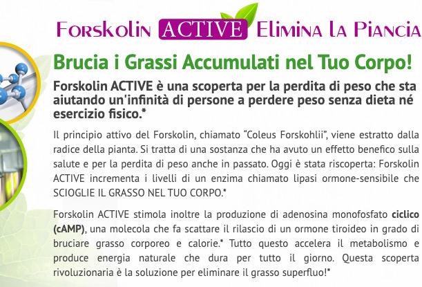 come funziona Forskolin Active